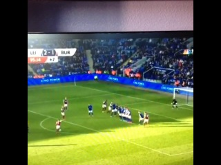 Ross Wallace's super free-kick to steal a point for Burnley against Leicester.
