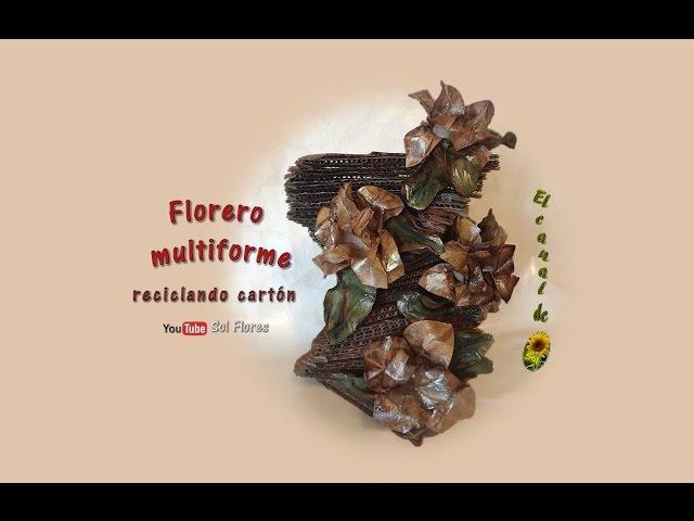 Florero multiforme reciclando cartón Multiforme vase cardboard recycling