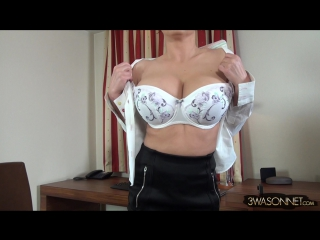 Ewa Sonnet Very Busty Secretary ( milf milk wet pussy big tits busty suck blowjob brazzers kink porn anal мамка модель сосет )