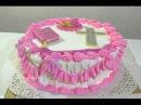 Торт на крестины девочке Как украсить торт кремом Торты для детей Cake for the christening girl