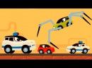 Мультики про машинки Машинка Редди бежит от полиции Погоня Анимашка Познавашка новые видео