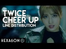 Twice - Cheer Up Line Distribution (Color Coded)