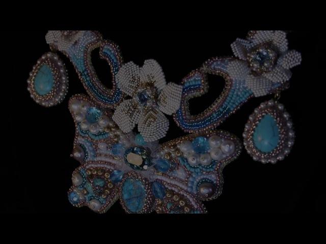 Оплетение риволи бисером Мастер класс Элемент колье Версаль