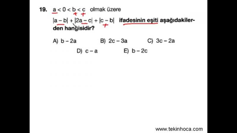 1 Mutlak Değer Matematik Soru Çözümleri KPSS YGS LYS
