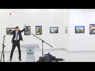 VIDEO FOOTAGE of Russian Ambassador to Turkey Being Shot and Killed in Ankara Museum (12/19/2016)