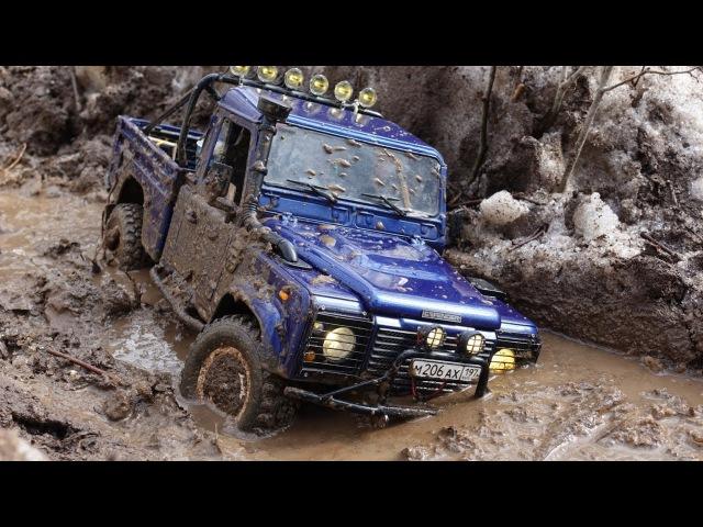 Весенняя распутица Land Rover defender 90 WildBrit defender 110 HCPU spring mudding