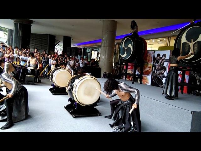 Drum Tao performance at Isetan Scotts Video1 on 14 April 2017 at 2pm