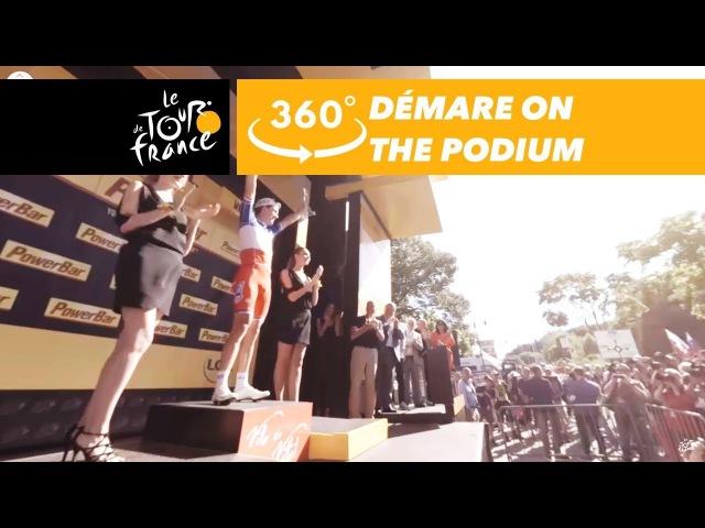 Arnaud Démare on the podium in Vittel - 360° - Tour de France 2017