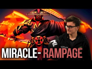 Miracle- Divine Rapier Ember Spirit - EPIC Aegis Snatch + RAMPAGE Dota 2