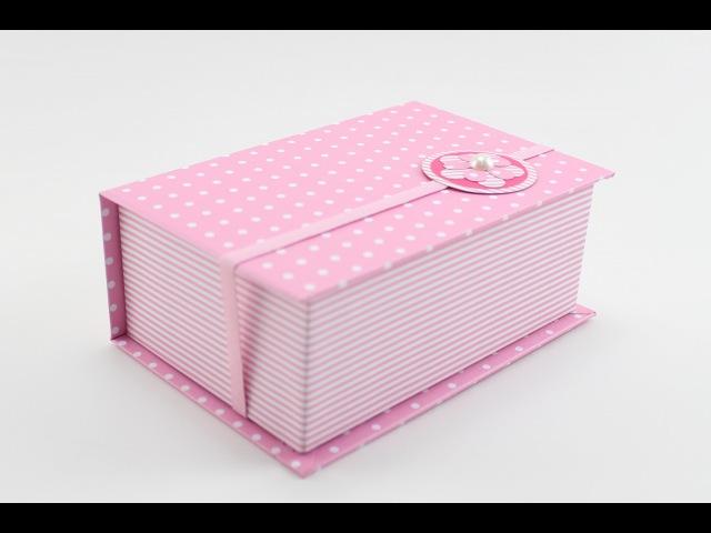 Caixa Livro Forração em Papel Cartonagem