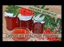 Сироп из ягод красной рябины рецепт полезной вкусной заготовки на зиму Syrup berries of red Rowan