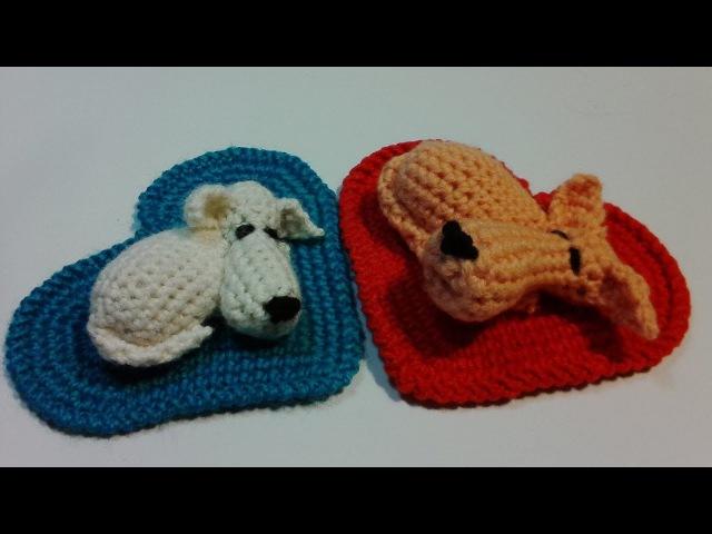 Puppy on the mat heart, р. 2. Щенок на сердечном коврике, ч.2