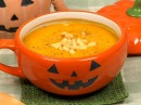 Pumpkin Potage Recipe Delicious Halloween Soup with Sweet Kabocha Squash Cooking with Dog