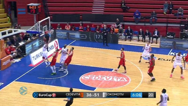 Баскетбол. Еврокубок Цедевита 60:85 Локомотив-Кубань