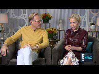 Хан Соло / Эмилия дает интервью для «E!» в рамках промоушена фильма «Хан Соло: Звездные войны. Истории»