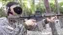 Shooting New Tippmann Magfed TMC paintball gun with gas through stock