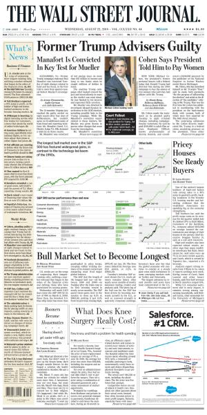 The Wall Street Journal - August 22, 2018