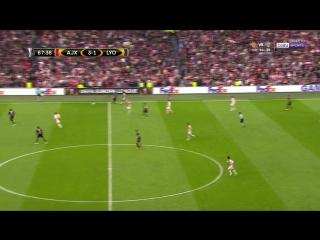 La segunda parte del partido entre el Ajax y el Olympique Lyonnais.