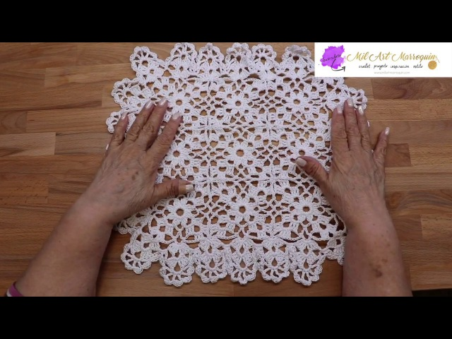 Mantel Cuadrado Crochet
