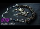 Шикарное колье своими руками Колье жгут из бисера и кристалов necklace of beads