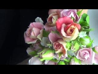 Бутоны Розы своими руками из ХФ  в разных вариациях от Риты. Rose buds of cold porcelain by Rita