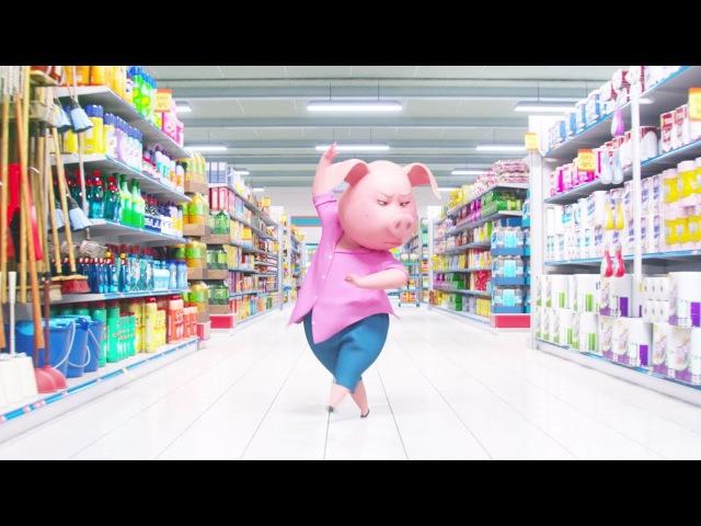 Свинья Розита танцует в супермаркете Зверопой 2016 сцена 4 11 HD