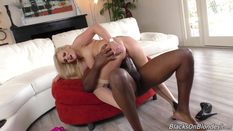 Blacks On Blondes, Dog Fart Network Katy Jayne Big Tits, Blonde, Petite, MILF, Pantyhose, Stockings, Facial,