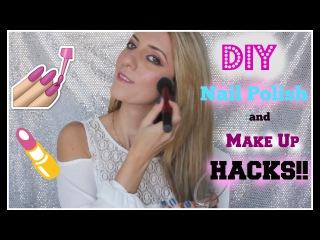 DIY Nail Polish and Make Up Hacks | Beauty Hacks Every Girl Should Know!