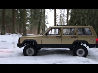 RC Trucks OFF Road Snow Adventures Rc4WD Trail Finder 2 LWB Jeep & Toyota forest run