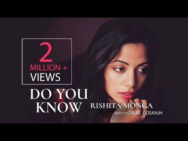 Rishita Do you Know Reply to Diljit Dosanjh Song