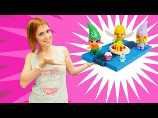 Видео с игрушками. Шопкинсы в детском саду у Маши Капуки.