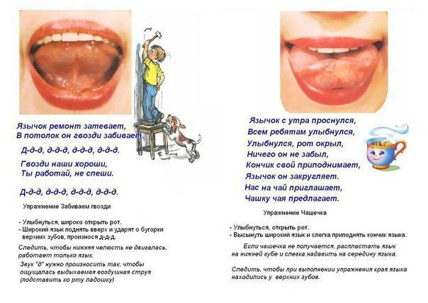 Артикуляционная гимнастика. Упражнения для подвижности языка и губ.