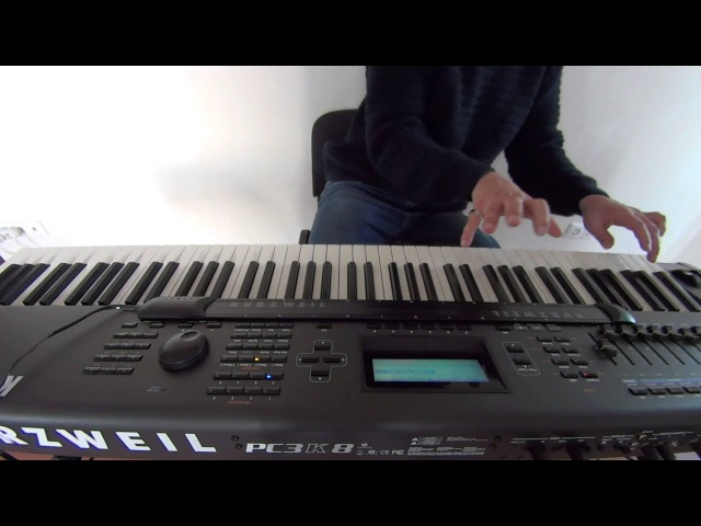 Пианист виртуоз играет Hard Rock на синтезаторе