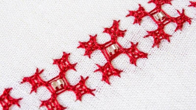 Basic Hand Embroidery Pattern Kutch Work Tutorial HandiWorks 109