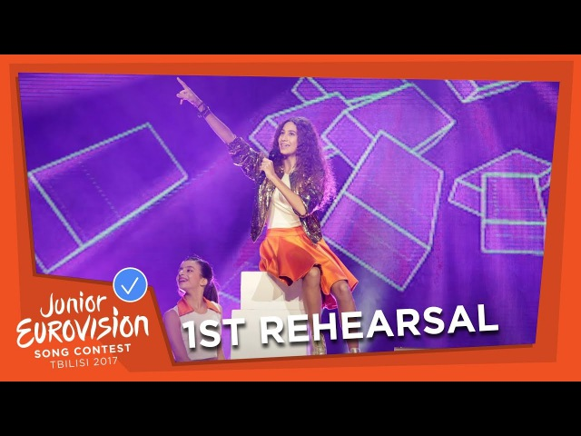 EXCLUSIVE REHEARSAL FOOTAGE NICOLE NICOLAOU I WANNA BE A STAR CYPRUS 🇨🇾 JESC 2017