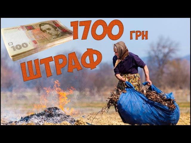 За спалювання листя штраф 1700 грн