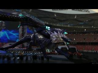 Real Life Elder Drake at League of Legends World Championship (China) POGGERS!!!