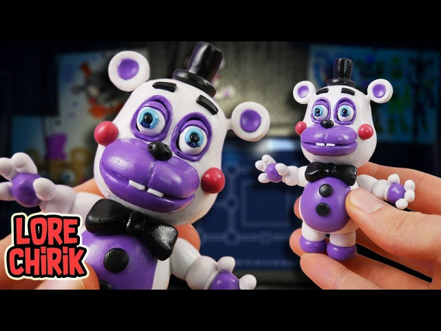 Making Helpy (Little Funtime Freddy) from Five Nights at Freddy's 6 in POLYMER CLAY!