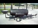 Super smoker 4 catering rig grill smoke box full door smoker BBQ