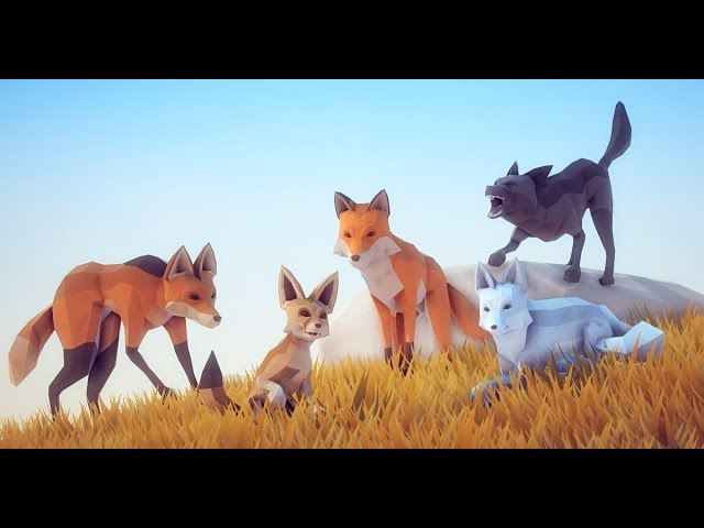 Poly Art Fox Unity