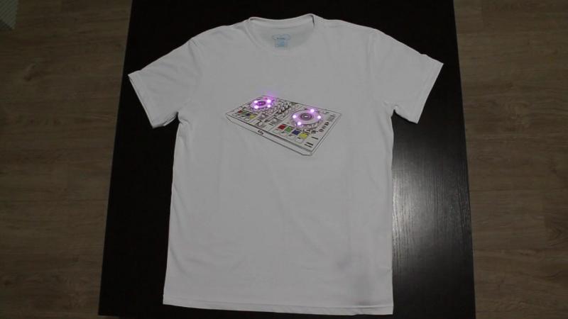 Светящаяся футболка – DJ