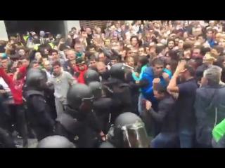 Каталония. Жесткий разгон сторонников независимости.