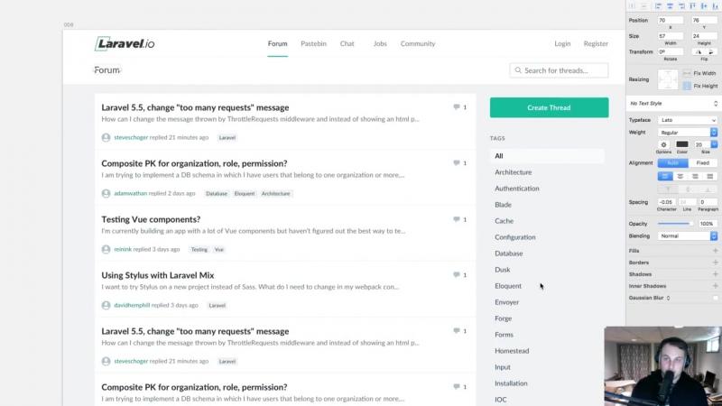 Rebuilding Laravel.io with Tailwind CSS