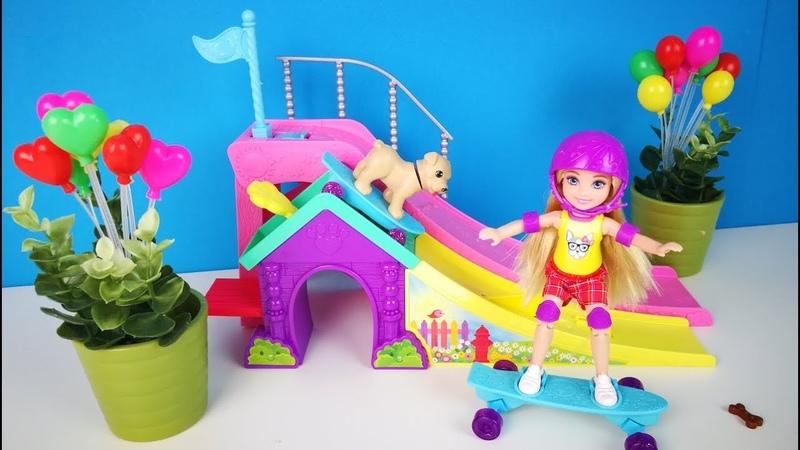 Куклы Барби ДЕВОЧКА ЧЕЛСИ НА СКЕЙТЕ Игрушки Для девочек Распаковка Обзор Ikuklatv Школа