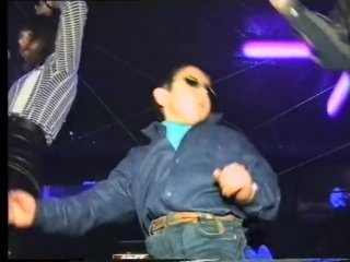 Russian gypsy kid dancing at club can't be bothered.