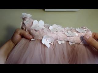 Шьем нарядное платье для девочки. часть 3-sew elegant dress for girl. part 3