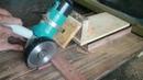 Sliding Miter Saw With Angle Grinder Membuat Gergaji Dorong dengan Mesin Gerinda