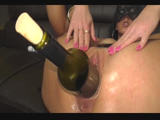 Huge wine bottle insertion [pov blowjob deepthroat hot wife strip cum anal plug suck skinny mother cock doggy threesome фистинг,