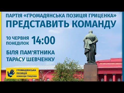 «Громадянська позиція» Гриценка представляє кандидатів на вибори до ВР