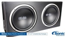 Belva 1200W Includes Two 2 12 inch Subwoofers in Ported Box Monoblock Amplifier Amp Wire Kit